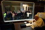 Pope aboard train (2)
